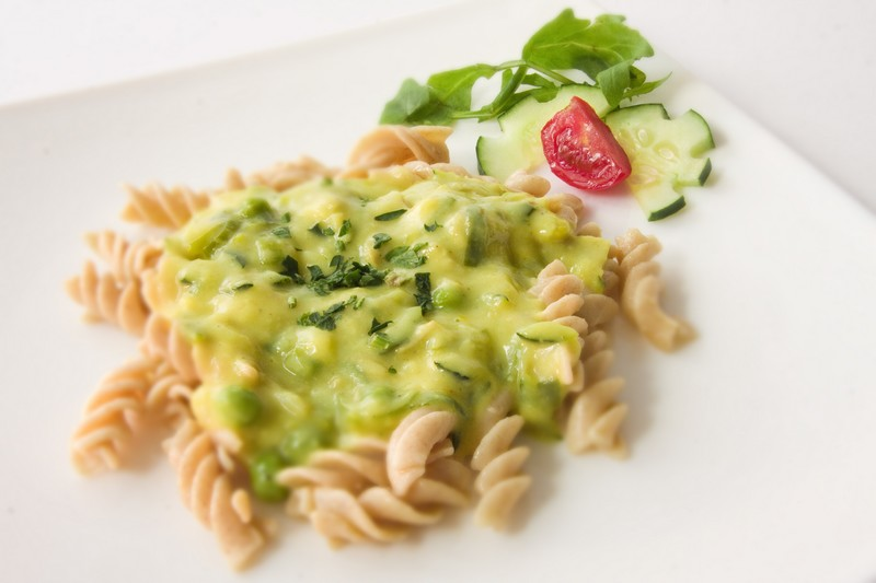 Vegehop-gluten-free pasta with vegetables and mushrooms!