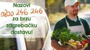 Quick delivery of fresh organic products in Zagreb