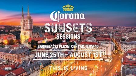 Corona Sunsets Sessions od  25. lipnja do 1.kolovoza  dolazi na krov Zagrebačkog plesnog centra svaki dan od 17 do 23 sata