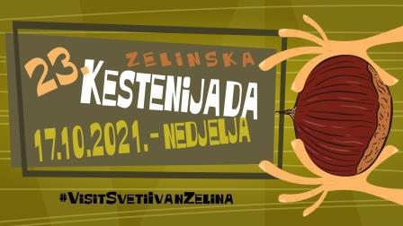 Program 23. Zelinske kestenijade u nedjelju 17. listopada 2021. od 9:00 na Kladeščici