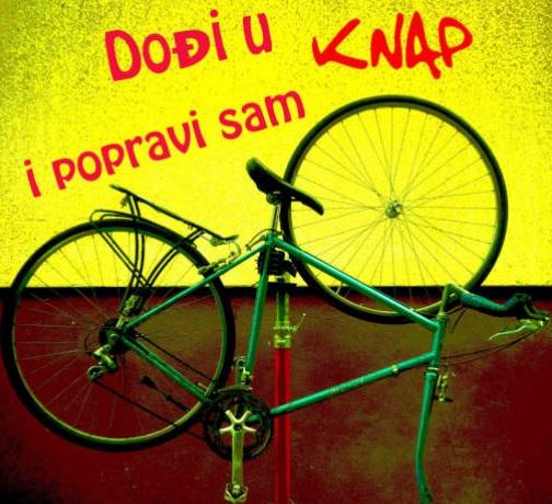 Sam svoj majstor – besplatna radionica o biciklima u Centru KNAP u subotu 12.6. 2021. od 11:00 do 13:00 h