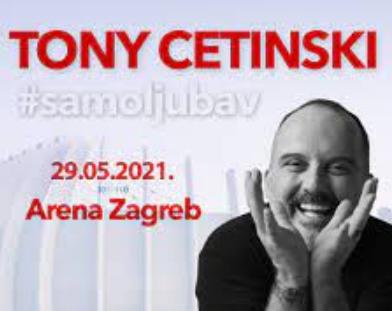 ODGOĐEN jer koncert Tony Cetinski i #samoljubav koji se trebao održati u subotu  29.05.2021., u Areni Zagreb!